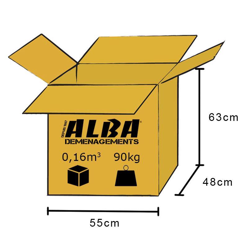 Dimensions de la Alba Box - Envoyer un colis dans les DOM-TOM