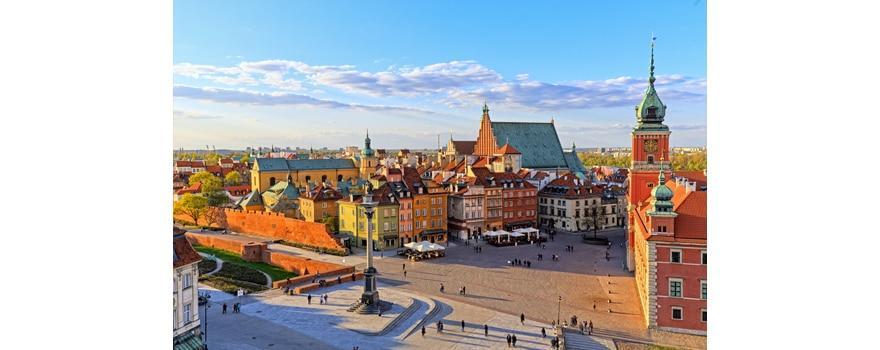 Déménagement à Varsovie - Vue en hauteur de Varsovie en Pologne