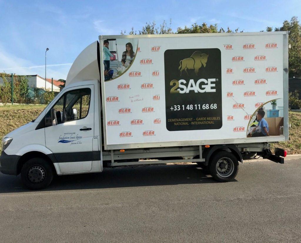 Camion Alba Déménagements - Groupe 2SAGE
